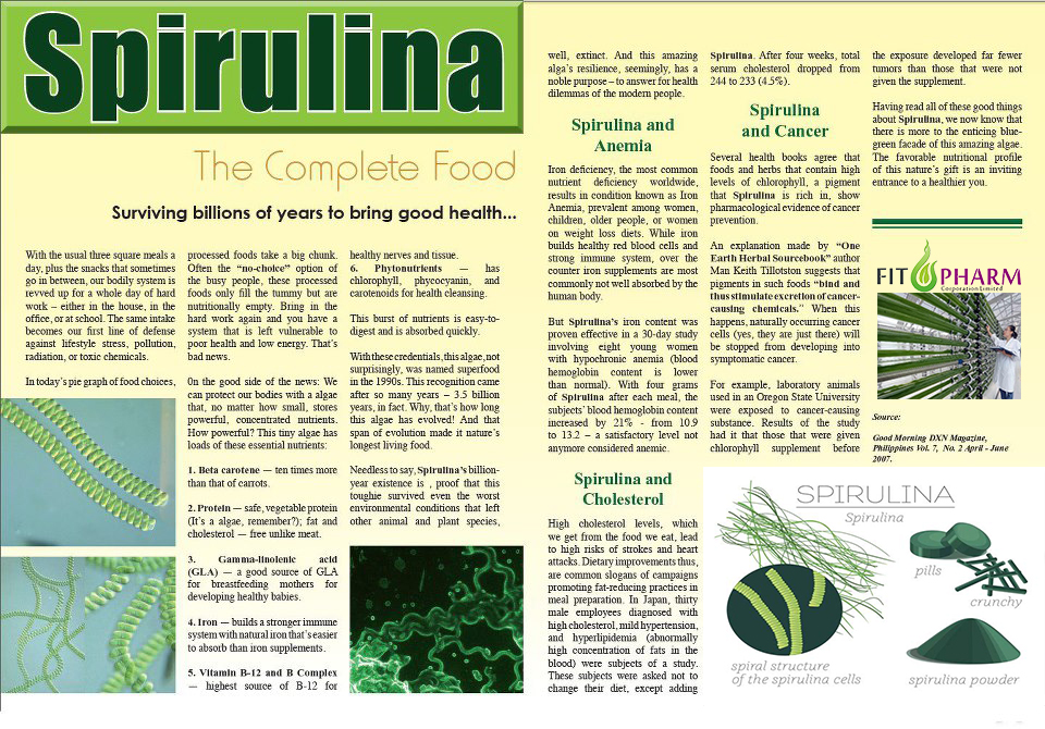 Know more about spirulina